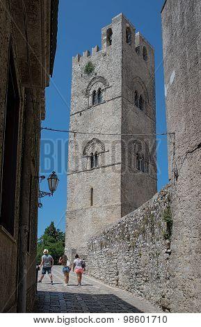 Cathedral Of Erice, Santa Maria Assunta. Sicily, Italy.