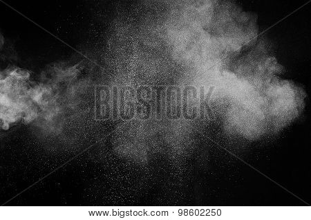 abstract white dust explosion
