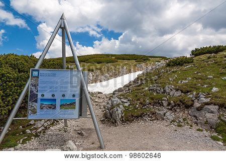 Dachstein Information Sign