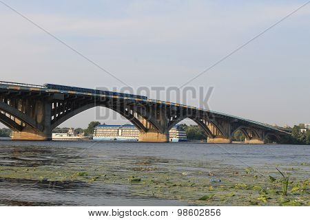 Bridge across river Dnieper in Kiev