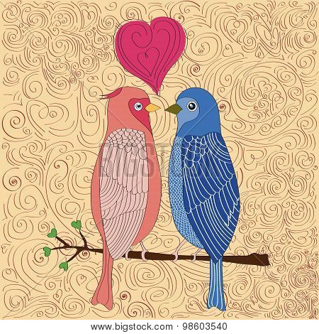 Birds In Love