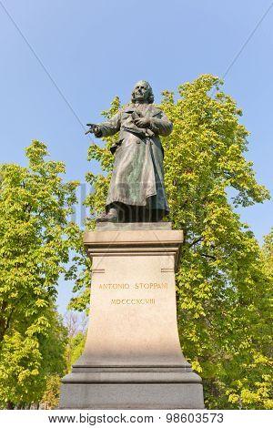 Antonio Stoppani Statue (1898) In Milan, Italy