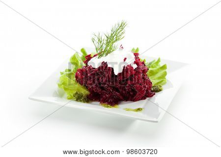 Beetroot Salad with Sour Cream