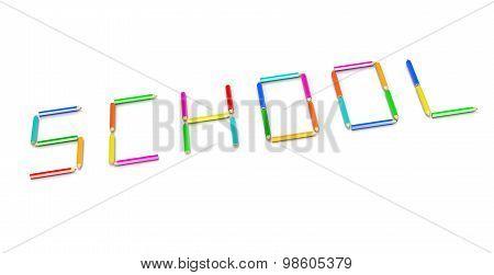 Crayons School Concept
