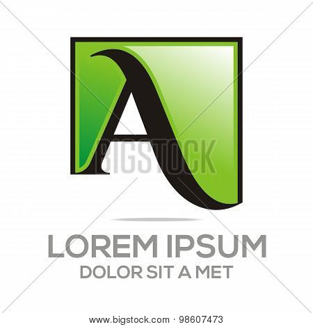 Logo Letter A Icon Concept Business Alphabet