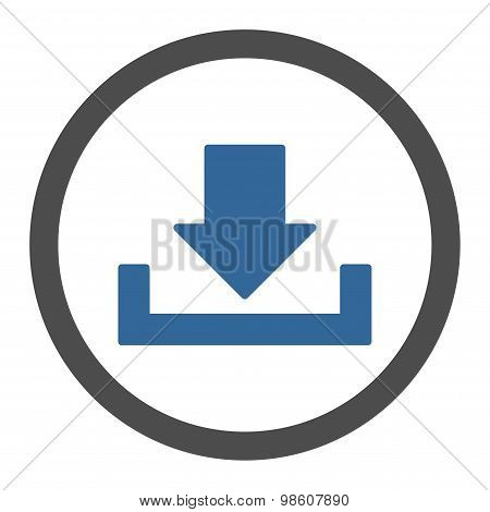 Download flat cobalt and gray colors rounded raster icon