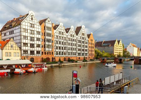 Gdansk. Quay Of The Old Town.