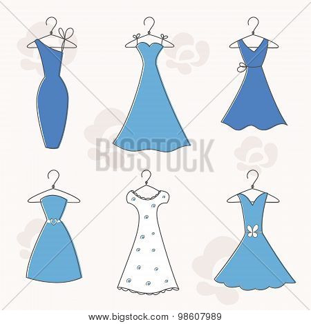 Cocktail and Evening Dresses on Hangers
