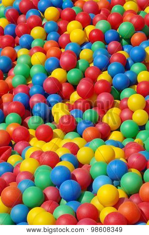 plastic colored balls background