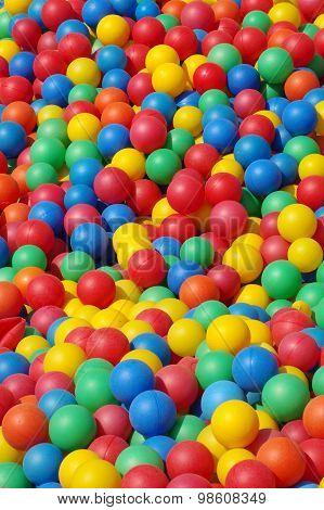 plastic colored balls background