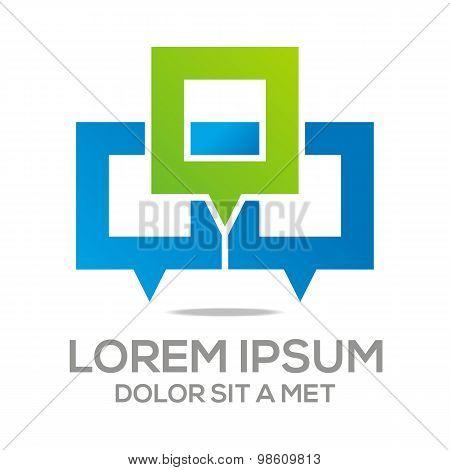 Logo talk box stylised vector