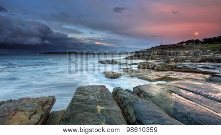 Mahon Pool And Maroubra With Incoming Storm