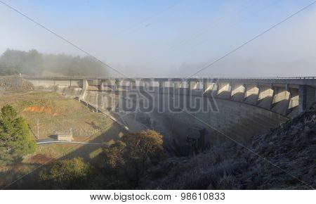 The Dam Wall At Carcoar Nsw Australia