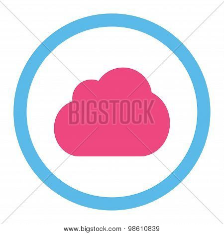 Cloud flat pink and blue colors rounded raster icon