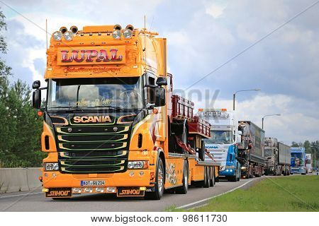 Yellow Show Truck Scania Of Lupal