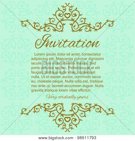 Invitation card template