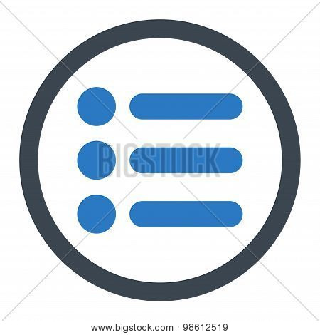 Items flat smooth blue colors rounded raster icon