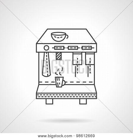 Espresso machine line vector icon
