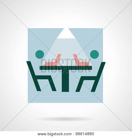 Coworking flat vector icon