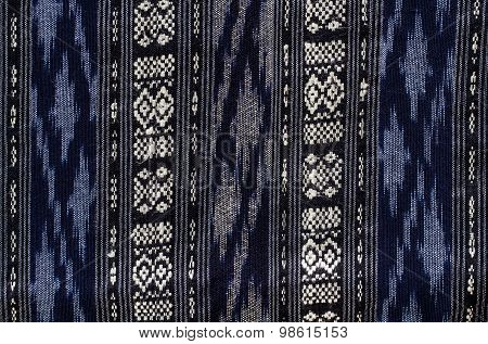 Patterns Of Hand Made Fabric Woven In The North Of Thailand.