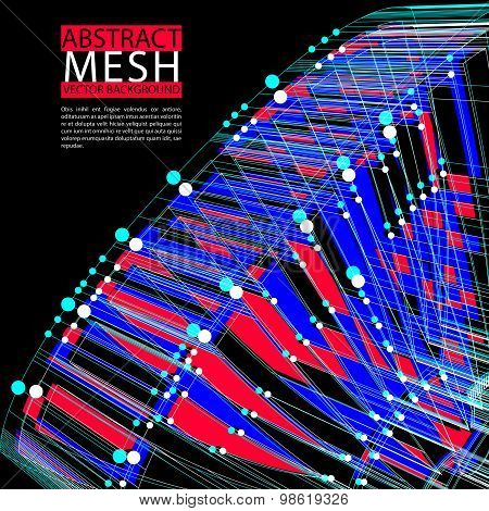 Abstract mesh vector illustration, template for technology theme layouts, connection, communication