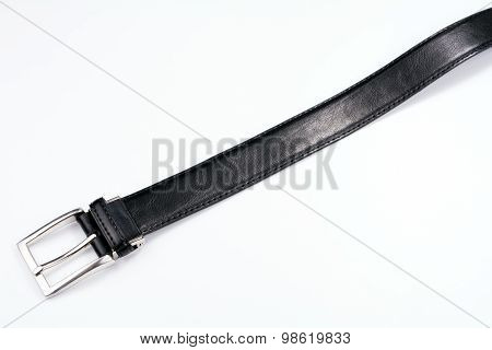 Straight black male belt