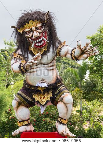 Balinese Ogoh-ogoh Monster At Balinese New Year , Indonesia.