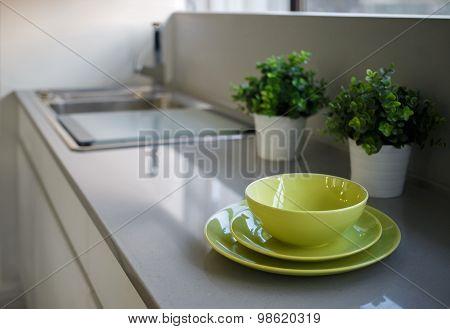 Crockery On A Table
