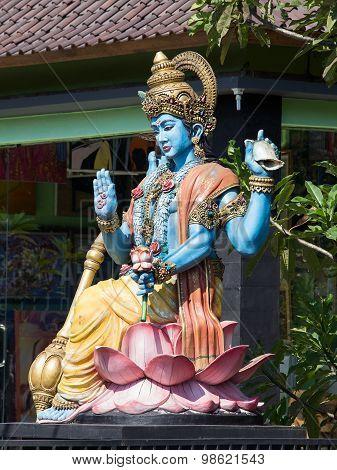 Shiva Statue, Hindu Idol In Ubud, Bali, Indonesia