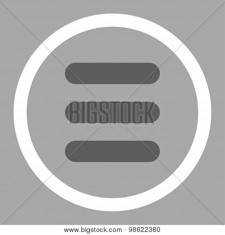 Stack flat dark gray and white colors rounded raster icon