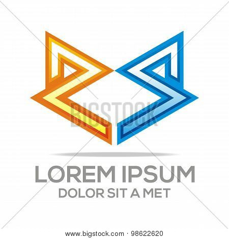 Logo combination of a and v letter vector
