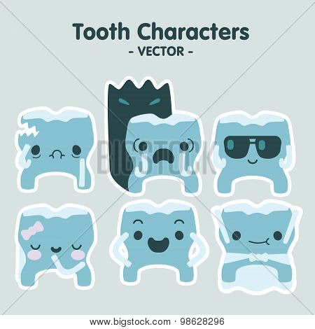 Tooth Characters - Vector