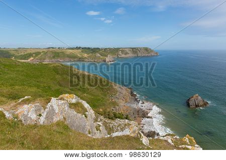 Wales coast near Three Cliffs Bay south coast the Gower Peninsula