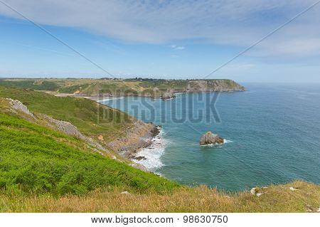 Welsh coast Three Cliffs Bay the Gower Peninsula Swansea Wales uk beautiful view popular tourist