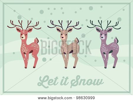 Three Deers - Winter Holidays