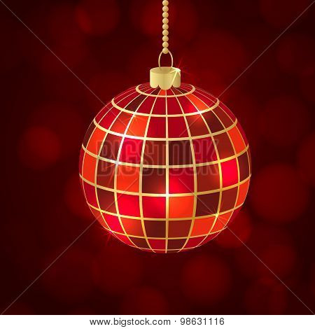 christmas ball mosaic