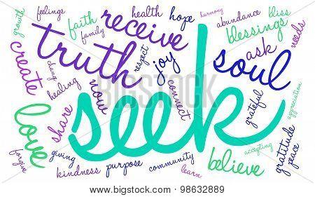 Seek Word Cloud