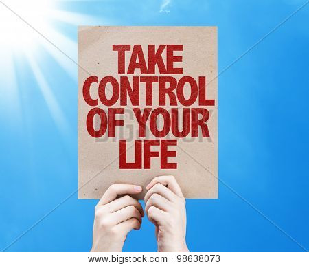 Take Control of Your Life card with sky background