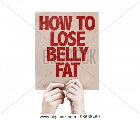 How To Lose Belly Fat card isolated on white