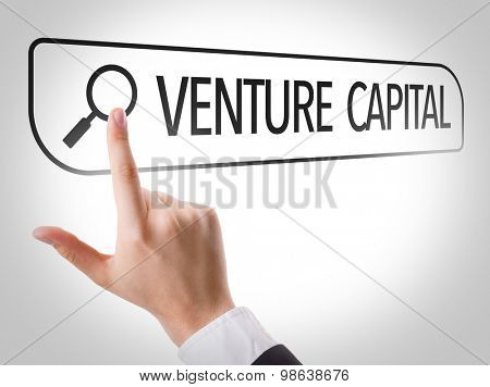 Venture Capital written in search bar on virtual screen