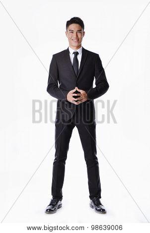 Handsome businessman portrait full body