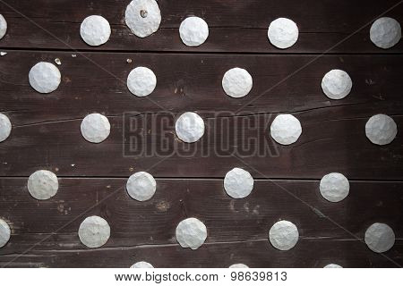 Wooden Boards With  Rivets