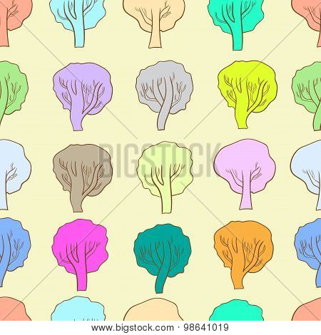Seamless color trees