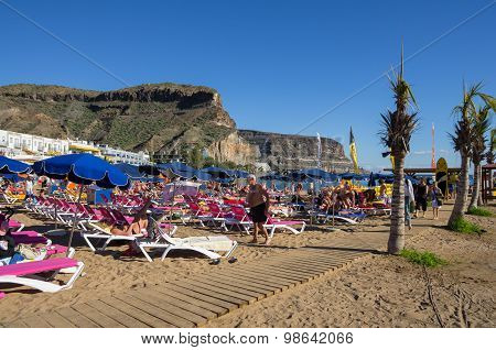 Beach Of Puerto De Mogan