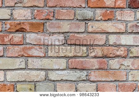 Aged Red Brick Wall Texture