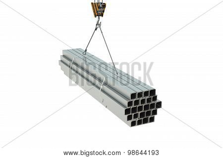 Crane Hook With Rolled Metal L Bars Angles