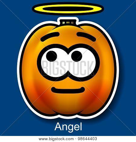Vector Halloween Smiley Angel