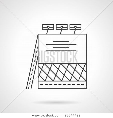 City banner line vector icon