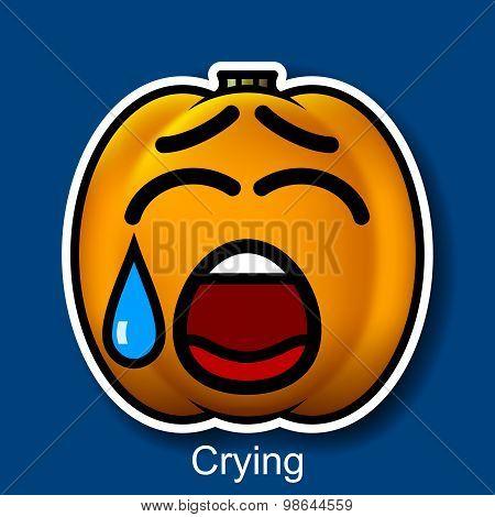 Vector Halloween Smiley Crying