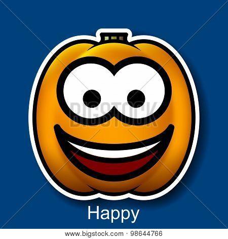 Vector Halloween Smiley Happy